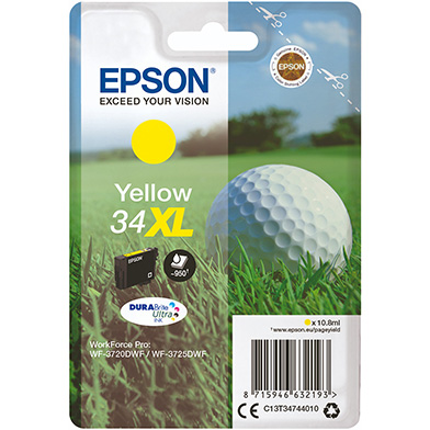 Epson  Yellow 34XL DURABrite Ultra Ink Cartridge (950 Pages)