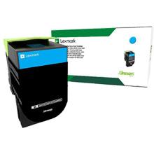 Lexmark  708C Cyan Return Program Toner Cartridge (1,000 Pages)