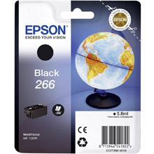 Epson Genuine  Black 266 ink cartridge (250 pages) for  Workforce WF-100W Printers