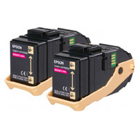Epson Magenta Toner Cartridge x 2 (15,000 pages)