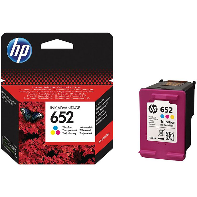 Hp No 652 Tri Colour Original Ink Advantage Cartridge