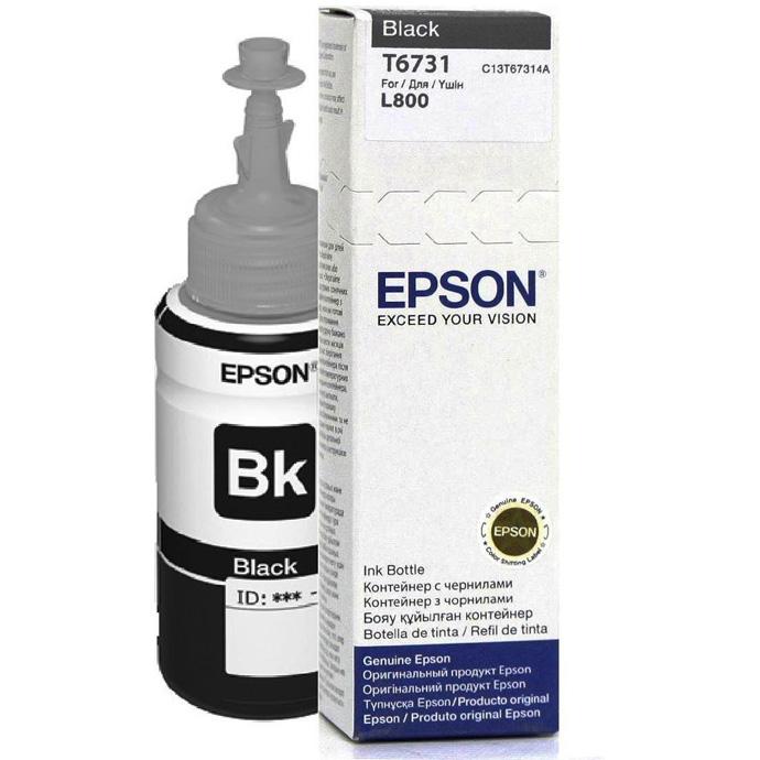 Epson T6731 Black ink bottle 70ml for Epson L800 Printers